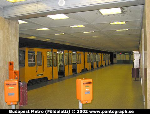 Budapest, Ungern: tunnelbana