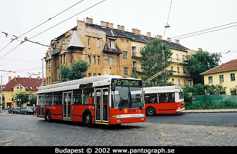 Budapest, Ungern: trådbuss