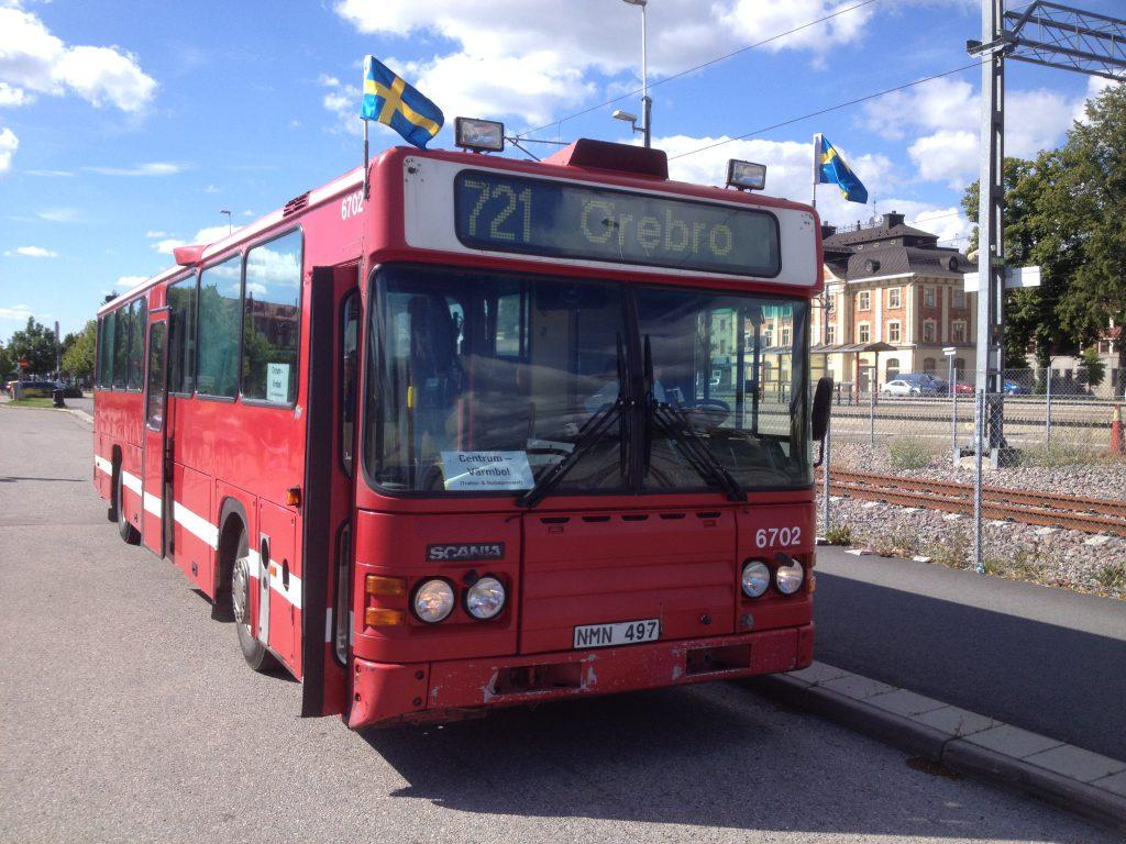 En av våra bussar